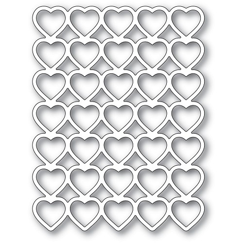 2287 Banded Hearts craft die