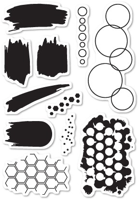 CL449 Studio Blotter clear stamp set